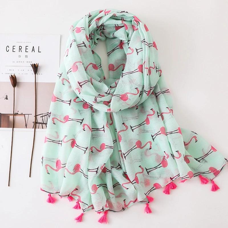 kids Scarves or Wraps Lovely Animal Flamingos Pattern Viscose Shawl Scarf Ladies Kids Fashion  Wraps and Shawls Winter Beach Neck Pashmina Muslim Hijab|Women's Scarves| -  AliExpress
