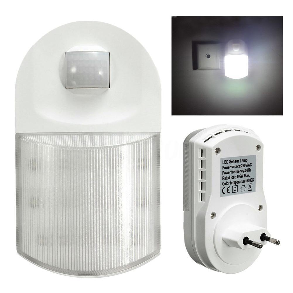 LumiParty Infrared Motion Sensor 9 LED Night Light Home Hallway Bedroom Wall Lamp with EU Plug jk35 цена и фото
