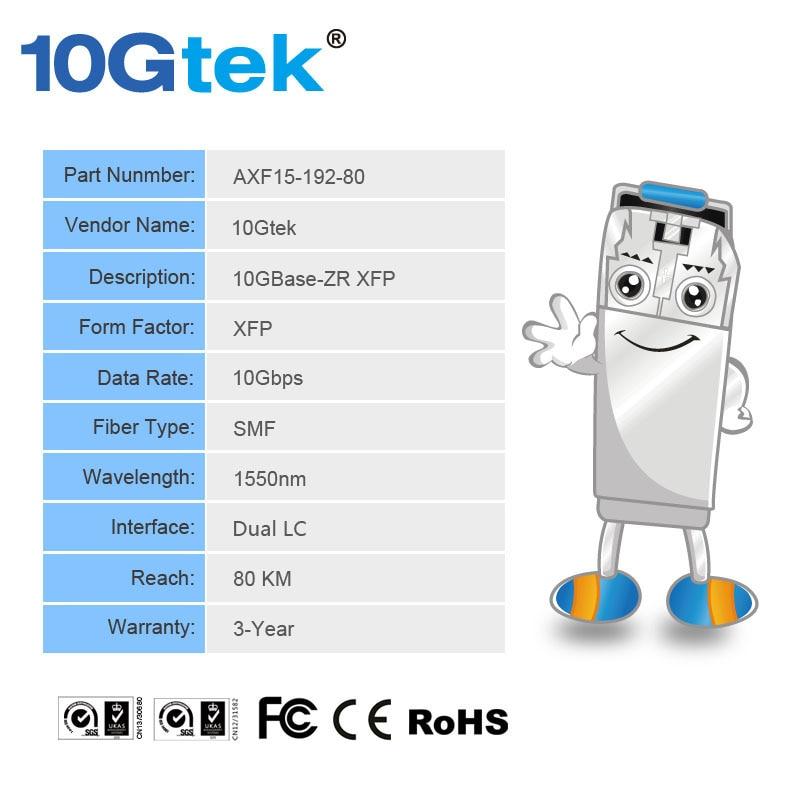 XFP-10GZR-OC192LR EX-XFP-10GE-ZR JD107A 10GBase-ZR / -ZW i OC-192 / - Sprzęt komunikacyjny - Zdjęcie 4