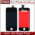 Venta caliente de grado aaa calidad de la pantalla frontal lcd para iphone 4S Pantalla Con Digitalizador Touch Reemplazo de la Pantalla Blanco y Negro Color