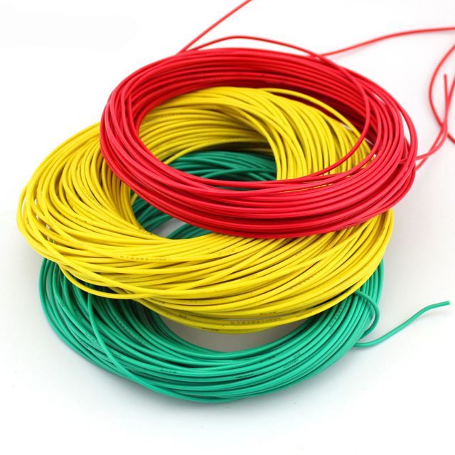 Multicolored wire cable / thin wire / red, black, green and blue lines / 2mm copper stranded/ DIY toy accessories/technology mod-in Parts & ...