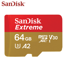 Sandisk Original Memory Card Extreme Micro SD Card A2 A1 V30 U3 Flash Card  64GB 32GB TF Card 128GB Memory Microsd For Free Ship