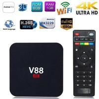 Android TV Box Network set top box Latest KD 18.0 Android 7.1 8GB RK3229 Quad Core 1080P WiFi HDMI Smart TV BOX Media Player