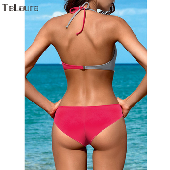 2018 Sexy Bikini Swimwear Women Swimsuit Push Up Bikinis Women Bathing Suit Biquini Brazilian Bikini Set Solid Beachwear Female 1