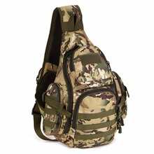 Outdoor Riding Mountaineering Camping Backpack Shoulder Bag Large Capacity Tactical Bag Chest Pack Accommodate 14 Inch