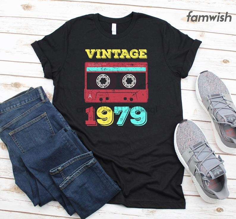 40th Birthday Vintage Made In 1979 Funny Printed T-Shirt