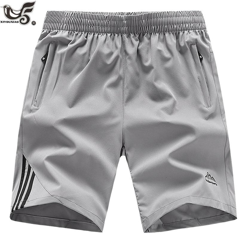 XIYOUNIAO Plus size L~8XL 9XL 10XL mens shorts Fitness Bodybuilding Casual gyms Joggers sportswear Brand short pants Sweatpants