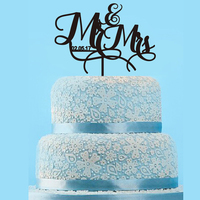 Cake Toppers With Letter And Date For Anniversary Or Wedding Cake Decor Custom