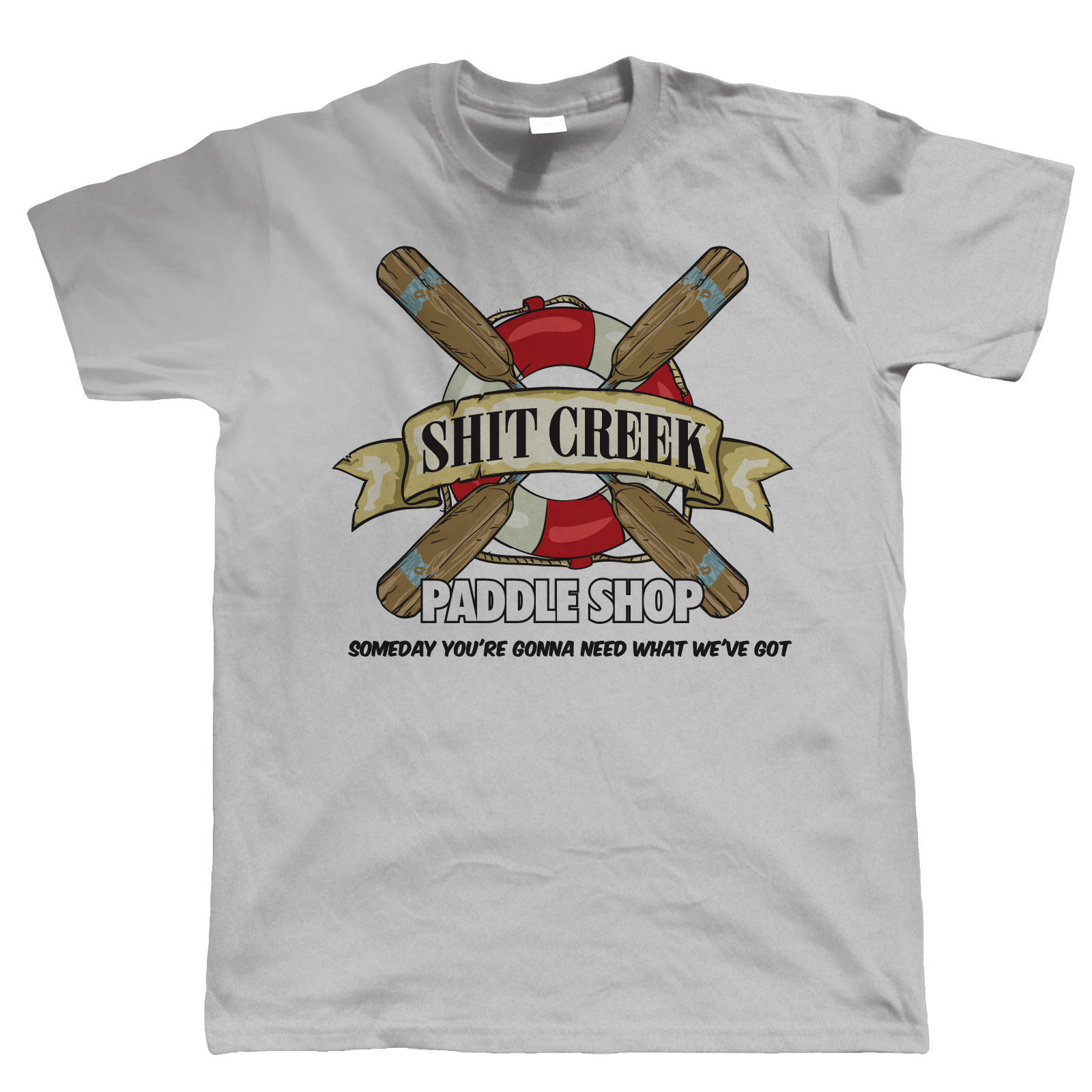 ShitCreek Paddle Shop Funny Canoeing Kayaking T Shirt Gift for Dad Him New T Shirts Funny Tops Tee New Unisex Funny Tops