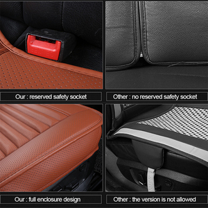 Image 5 - Car Seat Covers Universal PU Leather Seat Cover Four Seasons Automobiles Covers Cushion Auto Interior Accessories Mat Protector