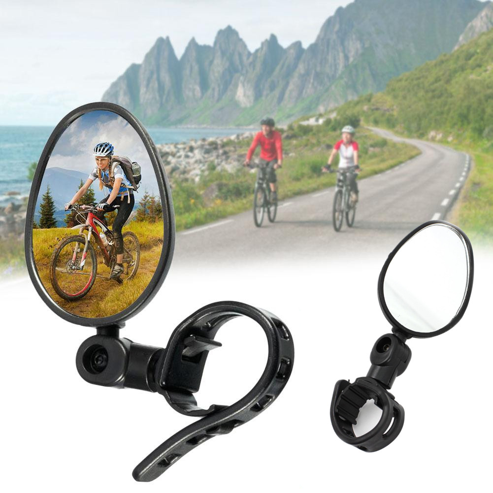 Universal 360 Degree Rotate Rearview Handlebar Glass Mirror Bike Bicycle Cycling