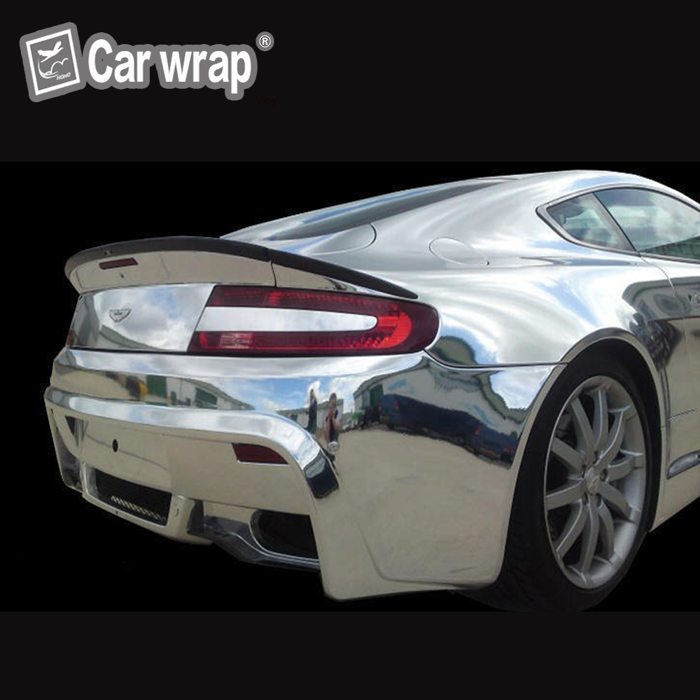 1.52m x 20m Conform Chrome Silver Flexible Vinyl Wrap Film. Stretchable with Air bubbles