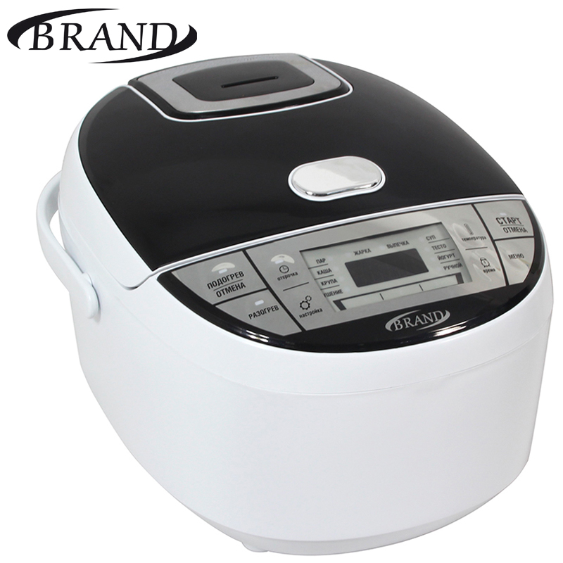 BRAND701 Multivarka electric digital. Multicooker. Steamer. Rice cooker. Yogurt. 3L. Pot ceramic coating. 200 recipes book.
