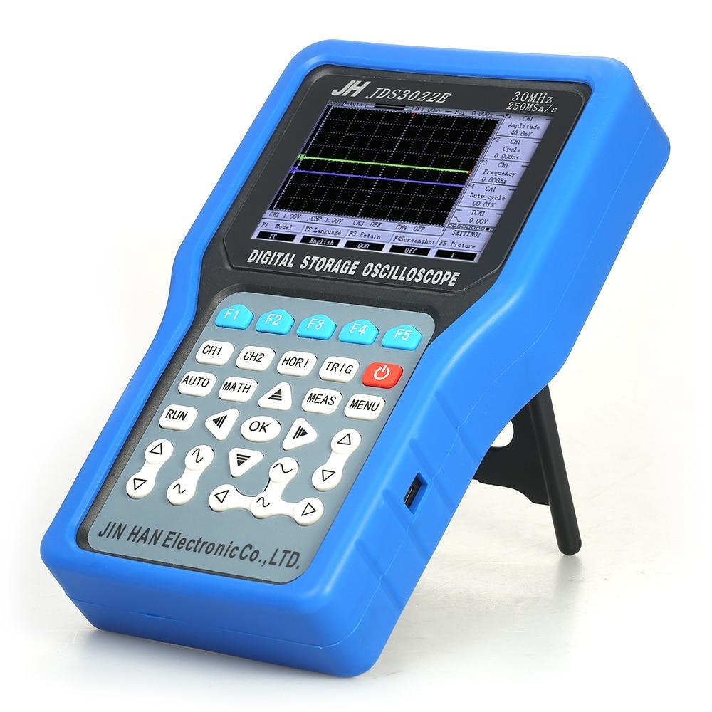 JDS3022E Multifunctionele Handheld Digitale Geheugen Oscilloscoop 2 Kanalen Scope Meter 50 MHz 500MSa/s met Signaal Generator осциллограф siglent sds1102dl 100 2 7 32kpts 500msa s sds 1102dl