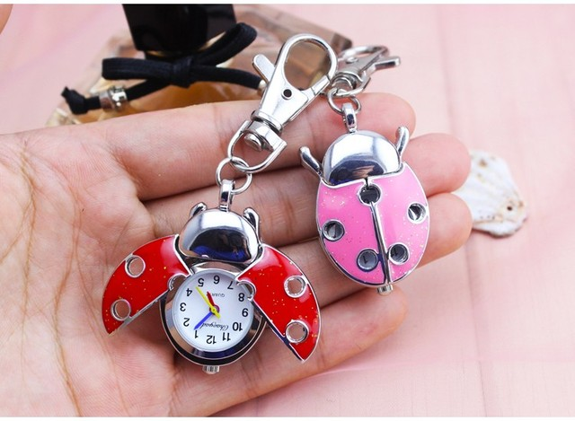 chaoyada 2018 Free Shipping New Style~Fashion Necklace Hollow out Lady beetle Shape Ladybug Pocket Watch