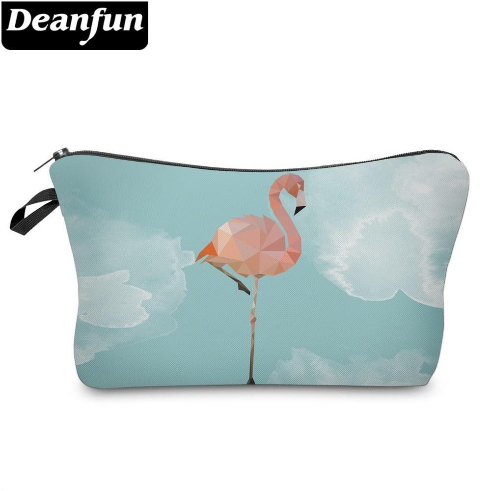 Deanfun 3D Printed Cosmetic Bags Flamingo Necessaries For Travelling Storage Makeup  51319 #