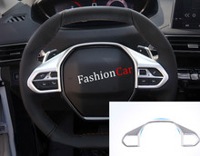 For Peugeot 3008 GT 2016 2017 (High- equipped) Inner Steering wheel cover trim 1pcs car styling