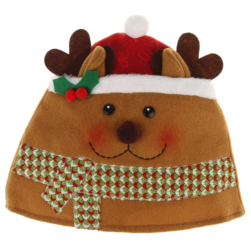 Cute Cartoon Plush Christmas Hat For Adult Men And Women Snowman Elk Santa Claus Skullies Beanies Cap Christmas Festival Supply inflatable cartoon customized advertising giant christmas inflatable santa claus for christmas outdoor decoration