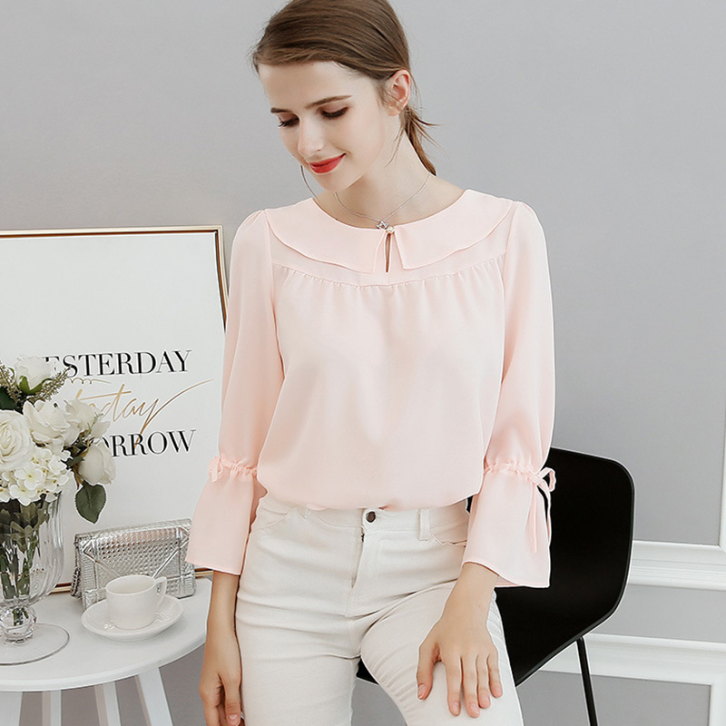 plus size 2018 New Fashion slim shirt summer Casual Sexy Lady Round Neck Solid Color shirt women Tops Blouse