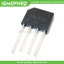 10PCS free shipping 100% new original bridge rectifier bridge KBL608 bridge rectifier 6A 800V flat bridge bridge