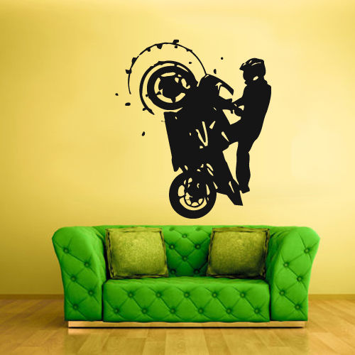 Home Decor Back To Search Resultshome & Garden Gy12 Motorcycle Motor Race Motocross Bike Sports Boys Vinyl Wall Decal Sticker Art Diy Removable Wonderful Home Decoration