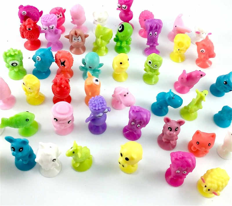 10/20/50 Pcs/lot Mini Monster Sucker Capsule Model Little Cartoon Anime Animal Action Figures Suction Cup Toys For Children