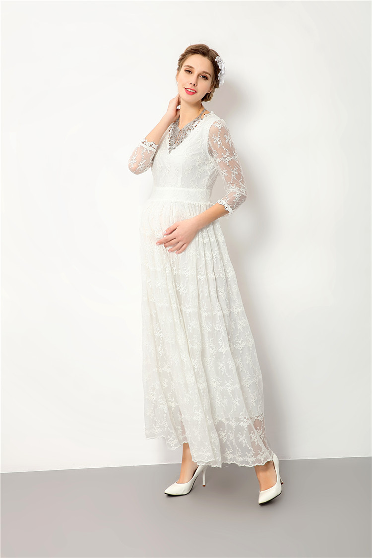 Maternity dress for baby shower lace maternity photography props v maternity dress for baby shower lace maternity photography props v neck pregnancy dress for photo shoot in dresses from mother kids on aliexpress ombrellifo Gallery