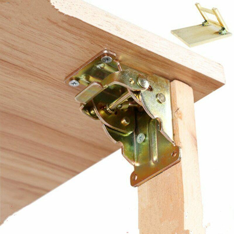 Iron Locking Folding Table Chair Leg Brackets Self Lock Furniture Extension Hinge Bracket Hardware