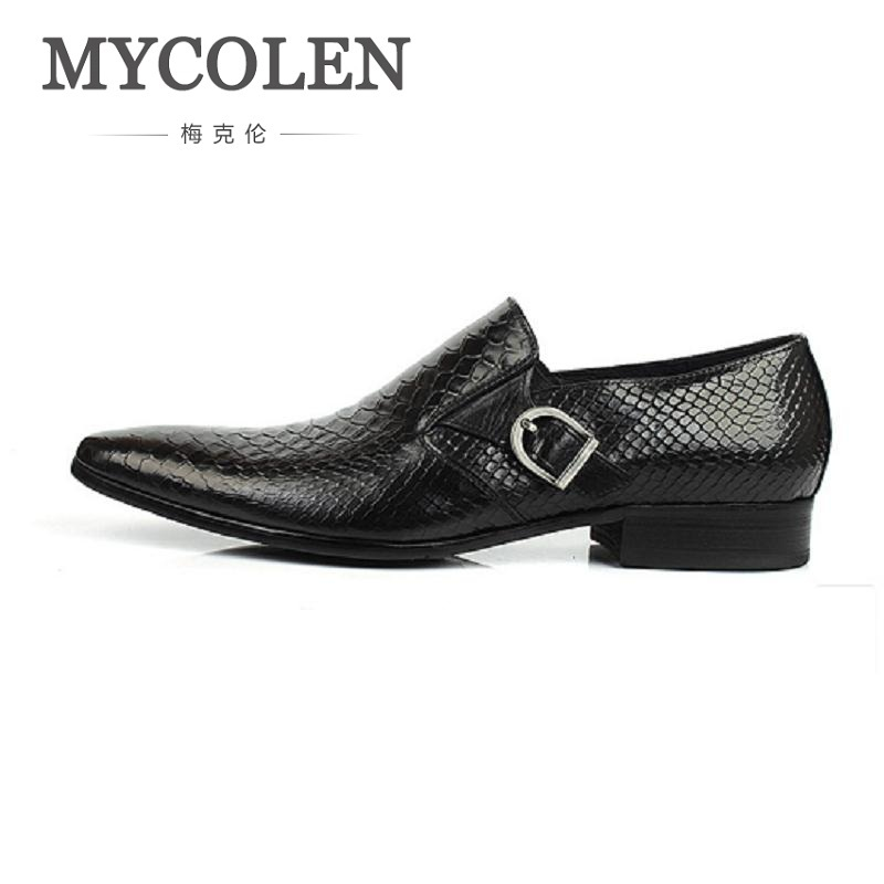 MYCOLEN Hot Sale Fashion Brand Formal Mens Dress Shoes Men Luxury Wedding Male Leather Shoes Office Crocodile Pattern Shoes 2017 new fashion italian designer formal mens dress shoes embossed leather luxury wedding shoes men loafers office for male