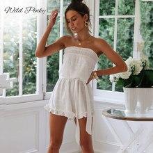 WildPinky Women off shoulder Loose Bohemia Dress Summer Strapless Linen Casual Female Mini Ladies Short Dresses boho
