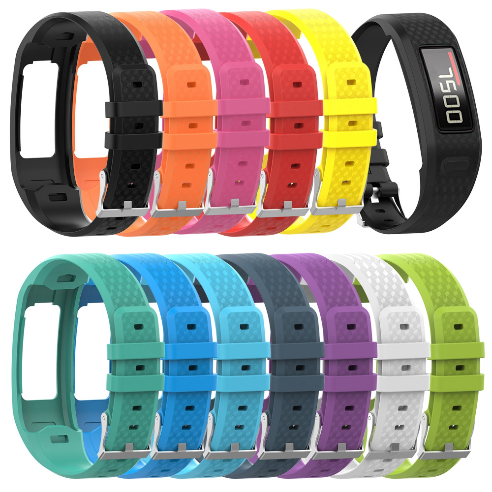 MASiKEN Silicone Wristband Strap For Garmin VivoFit 2 /1 Fitness Activity Tracker Watch Wrist Band Bracelet Belt