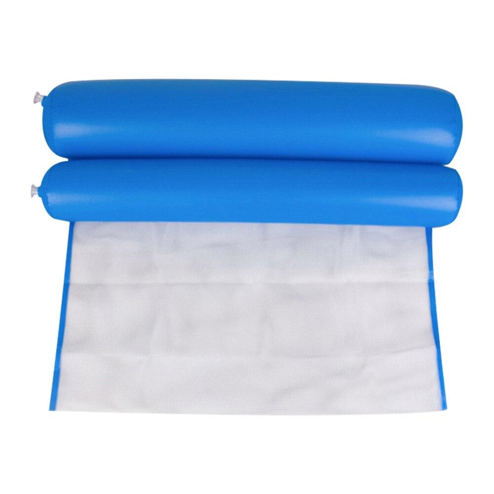 Горячий складной гамак воды одиночные люди надувной спинки пляжный шезлонг плавательный бассейн HV99 - Цвет: PVC