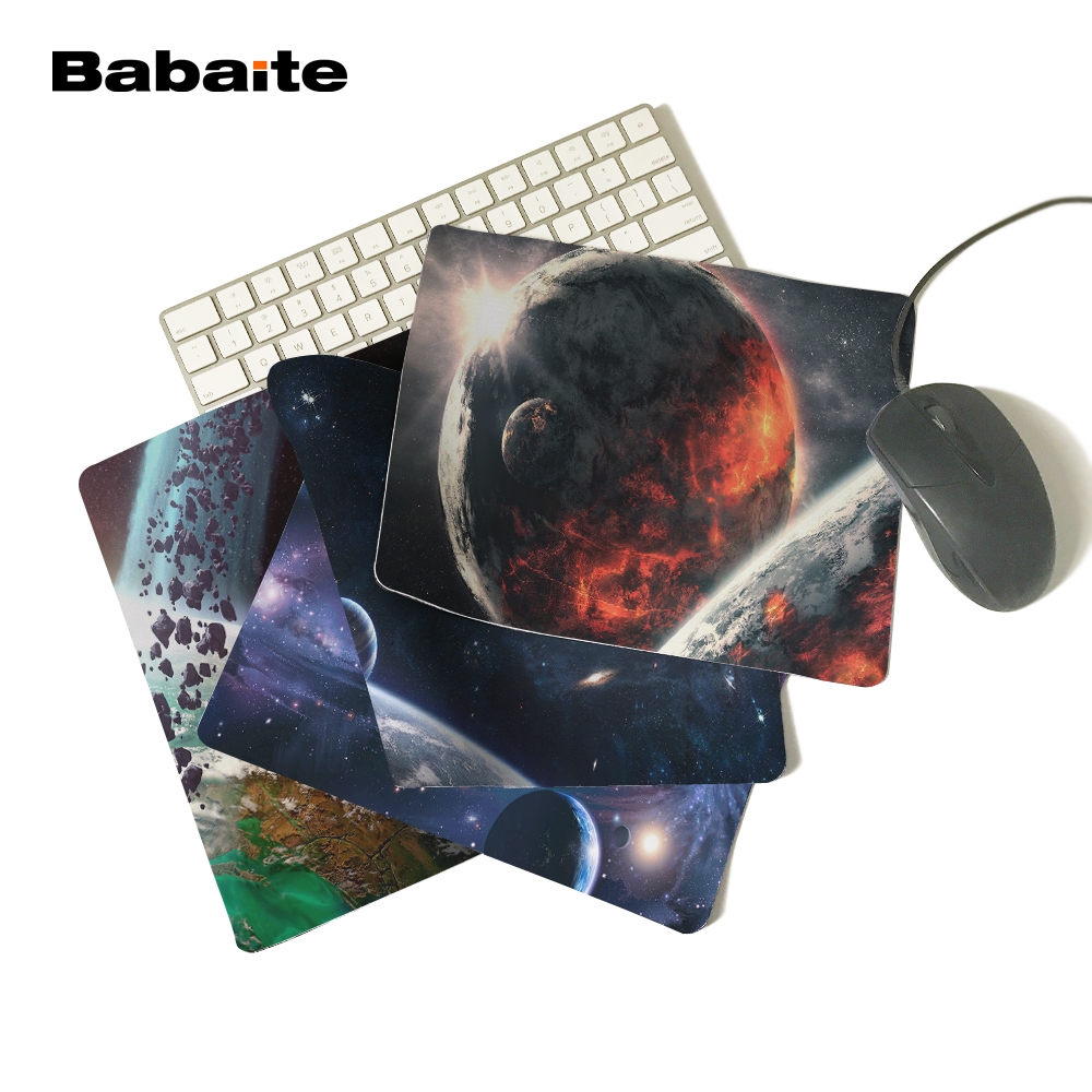 Amicable Babaite Customized Mouse Pad Volcanic Planets In Space Galaxy Exo Computer Notebook Logo Printing Mouse Pad Soft Rubber Mat Utmost In Convenience Mouse & Keyboards