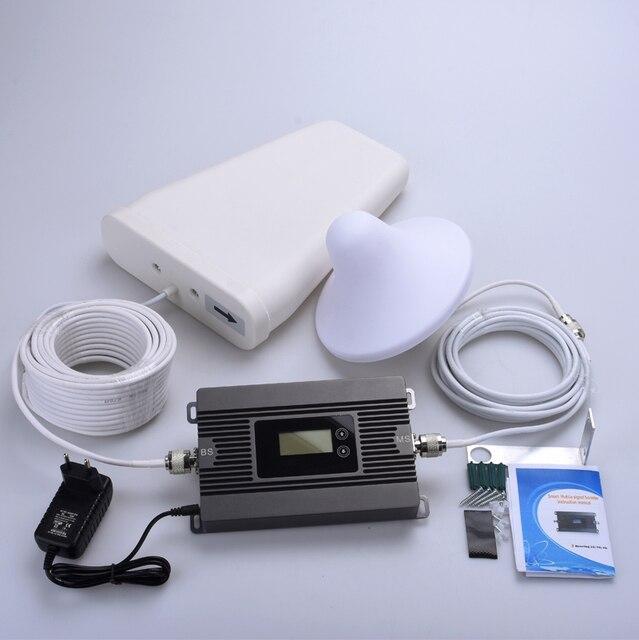Novo produto! alto Ganho 2G 3G 1900 mhz celular signal booster repetidor amplificador de sinal de telefone celular lcd conjunto completo