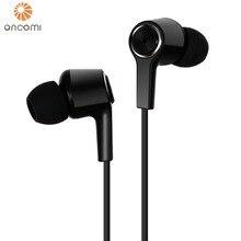Oncomi наушники с микрофоном для телефона бас музыкальные наушники высокие эластичные TPE кабель гарнитуры для Xiaomi смартфон наушники