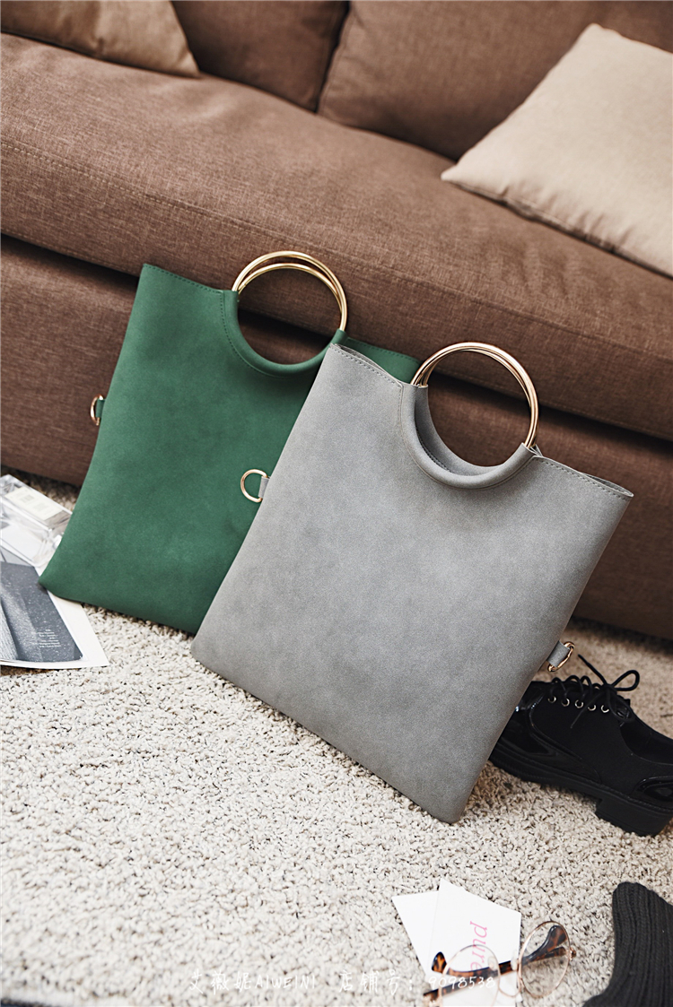 Casual Women Tote Bag 2 Pcs Set Folding Envelope Clutches Faux Suede Shoulder Bag Lady Hand Bag Black Red Shopper Handbag Purses 7