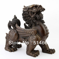 Pair of Brass Pi Yao Sculptures Fengshui /Pi Xie/pi xiu STATUES FIGURINE/For Wealth