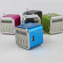 TD-V26 2pcs Mini MP3 Player TF Card USB Disk Micro SD Card FM Radio Line In / Out Sound Box Digital Portable Speaker