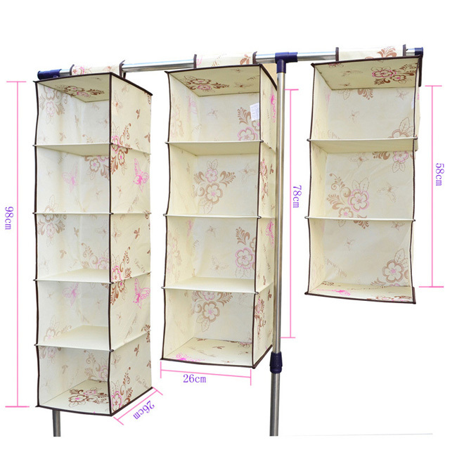 Marvelous Aliexpress.com : Buy LAGUTE 4 Shelf Hanging Wardrobe Storage Clothing Shelves  Closet Organizer From Reliable Clothing Supplier Suppliers On StyleSelect