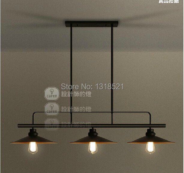 Vintage black Pendant Lights Industrial Edison Lamp American Style  E27*3pcs RH Loft Coffee Bar Restaurant Kitchen Lights 3 lights 22cm rh loft american vintage ceiling lamp pendant light e27 edison bulb cafe bar coffee shop club store restaurant