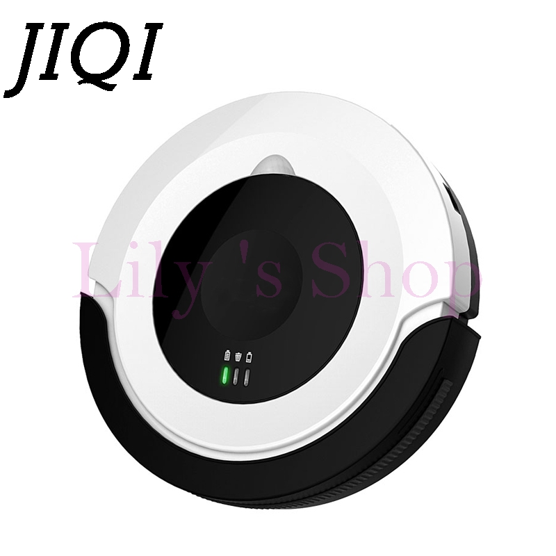 JIQI Electric Robot Vacuum Cleaner Home use HEPA Filter Remote Mopping chargeable Sweeping Dust Dry Cleaning aspirator 110V-220V jisiwei 2017 s smart robotic vacuum cleaner for home mobile app remote control tpu avoidance sensor hd camera robot mopping tool