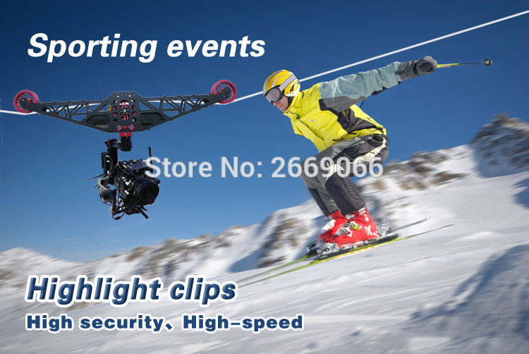 Factory supply film shooting equipment wire fly cam system eagle eyes video cablecam system for font