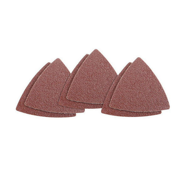 Image 5 - 60pcs Triangular Hook and Loop Triangle Sandpaper, Fit 3 1/8 Inch Oscillating Multi Tool Sanding Pad, Assorted 40 60 80 100 120-in Abrasive Tools from Tools