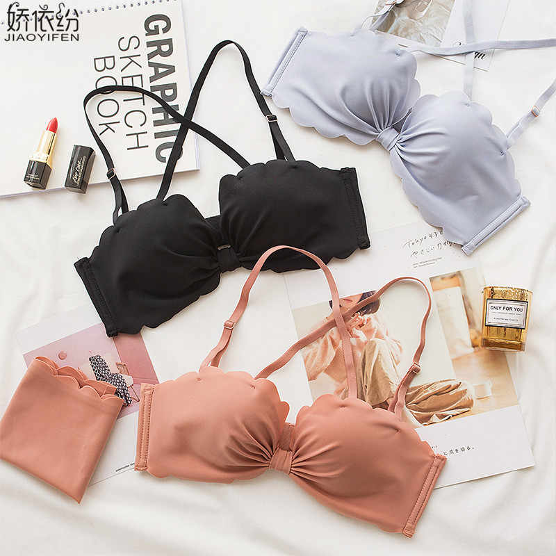 1ed07bf9f1d98 Young Girl Seamless Bra Set Sexy Butterfly Comfortable Women Underwear  Fashion Wire-Free Breathable Padded
