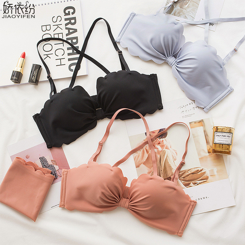 Young Girl Seamless Bra Set Sexy Butterfly Comfortable Women Underwear Fashion Wire-Free Breathable Padded Push Up Bra Sets girl