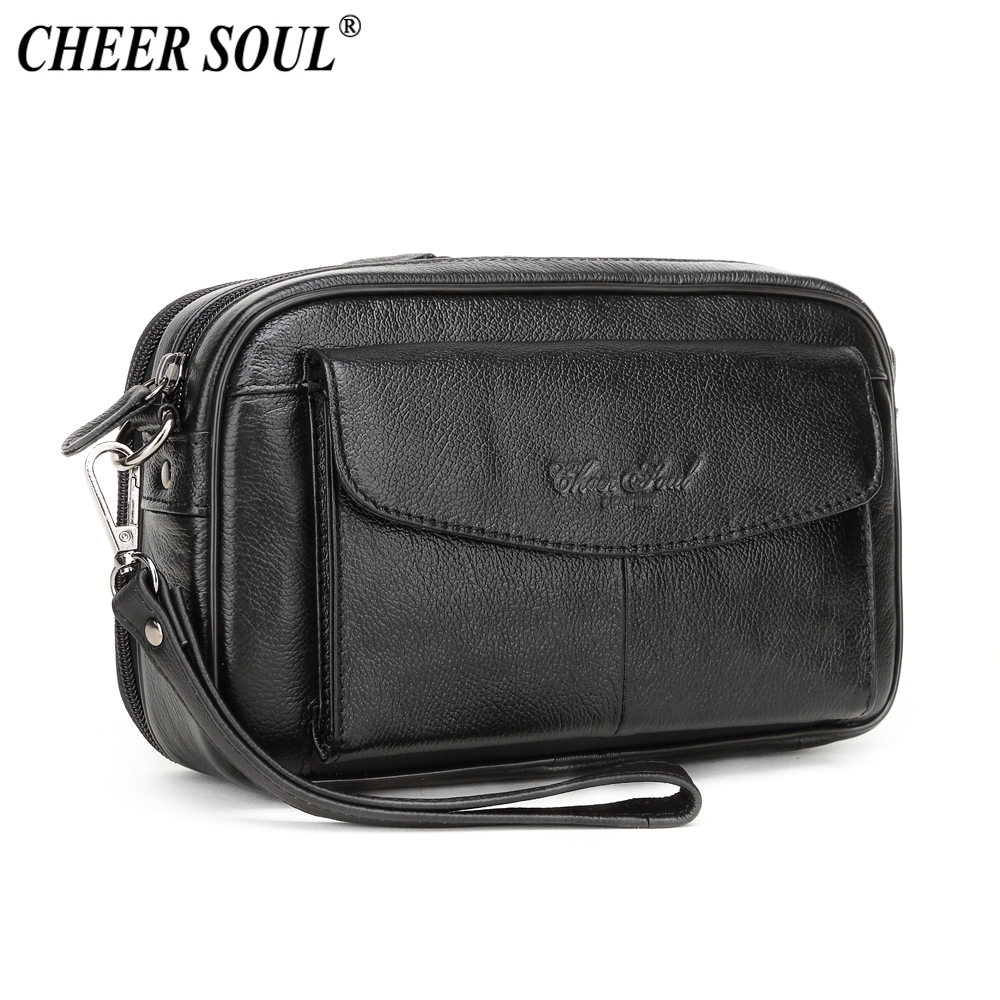 Color : Black Ljie Mens Weaving Wallet The Long Business Layer Cowhide Wallet Clutch Bag Purse