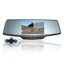 Ecartion Videocamera per auto Registratore Full HD 1080 p Specchio Retrovisore Della Macchina Fotografica LCD Dell'automobile di Visione Notturna DVR Dual Lens Parcheggio Dello Specchio DVR dash Cam