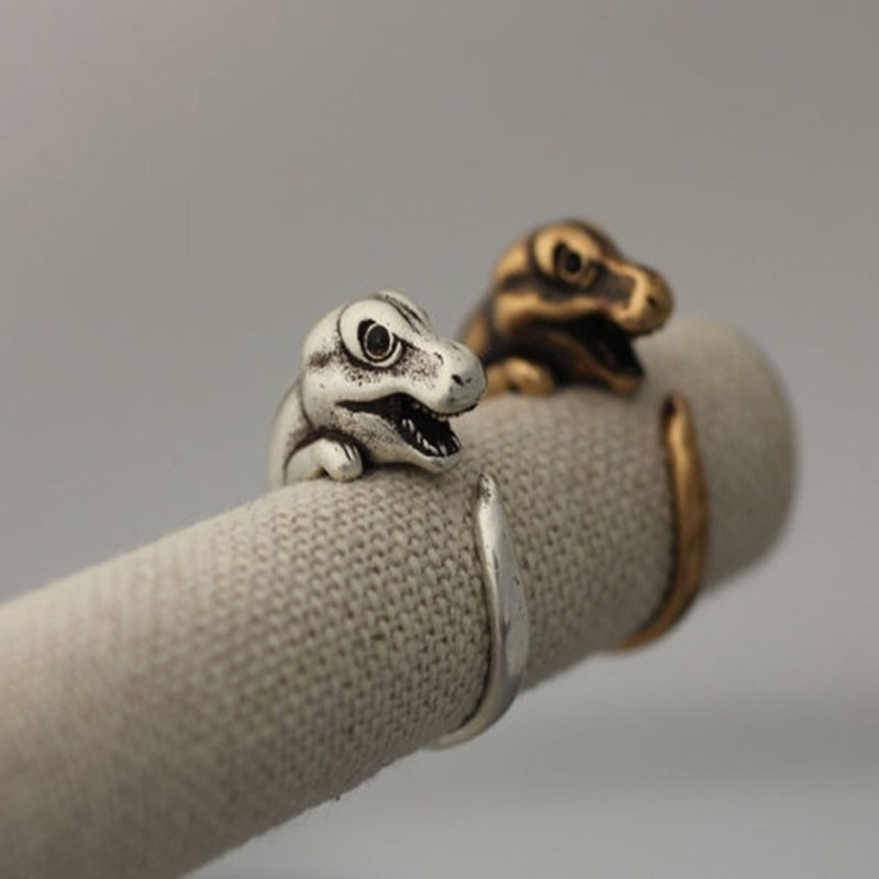 Dragon Silver and Bronze Rings