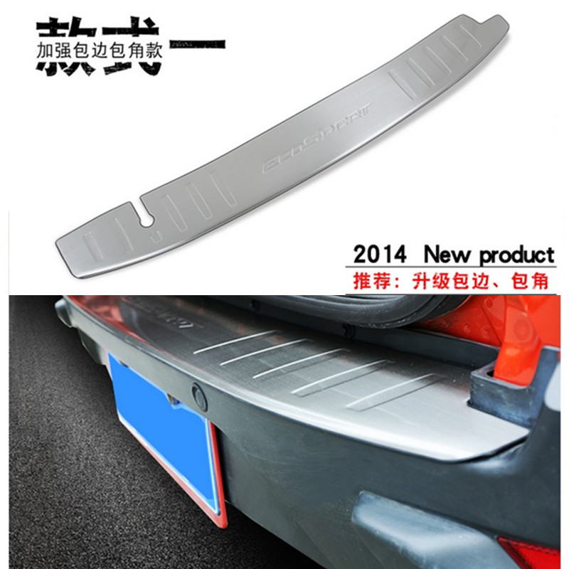 Stainless Steel Inner Rear Bumper Protector Sill Trunk Tread Plate Trim Fit 2014 For Ford Ecosport Car styling