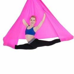 Aerial Flying Yoga Hammock Anti-Gravity Yoga Swing Belts Yoga Fabric Training Equipment For Pilates Body Shaping 5 Meter